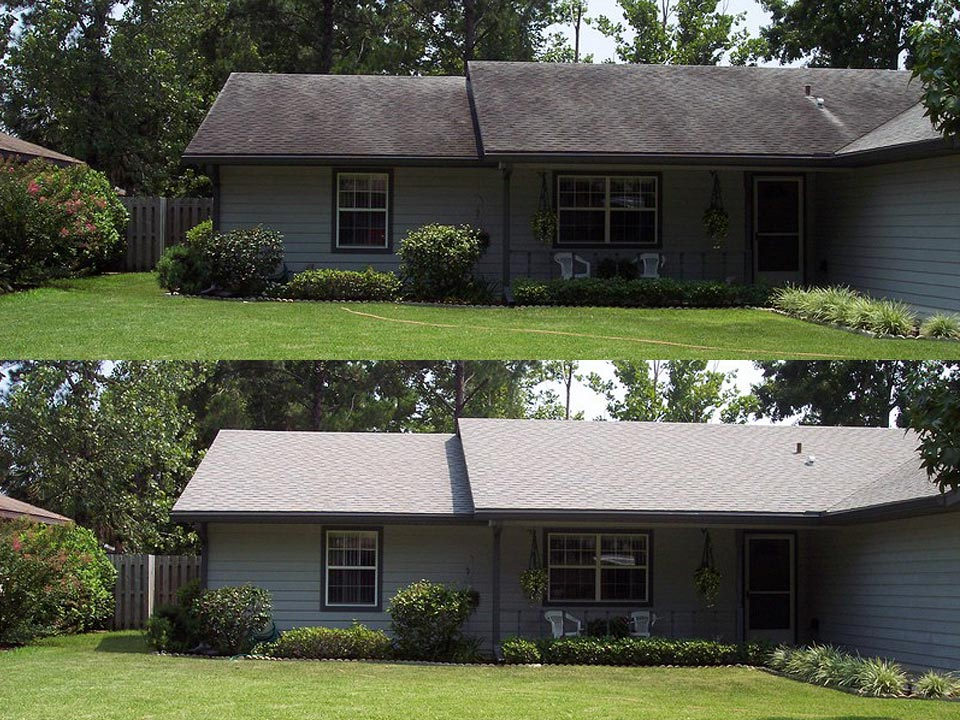 Soft Wash Roof Stain Removal in Louisville KY