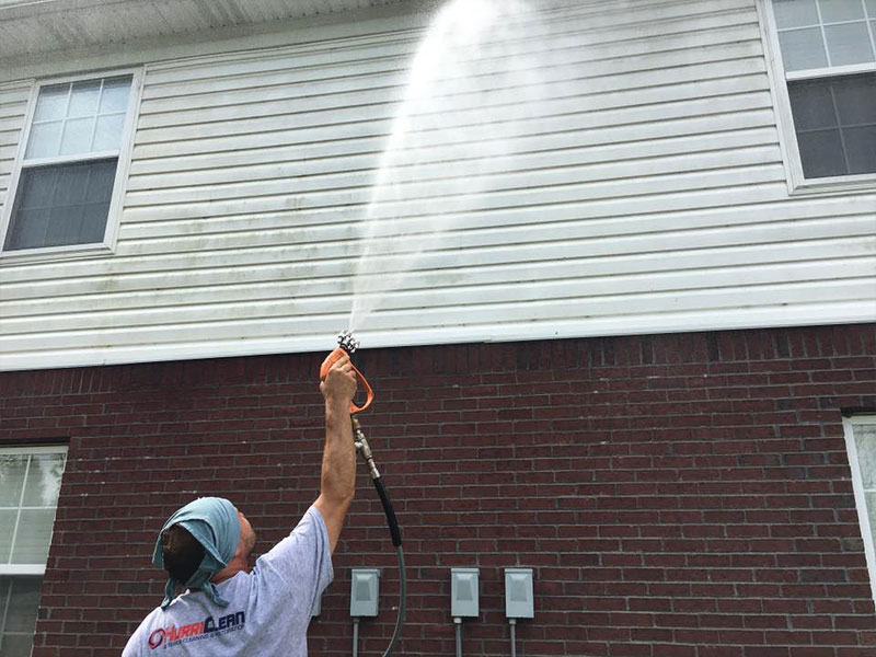 Soft Wash Low Pressure House Washing Service For